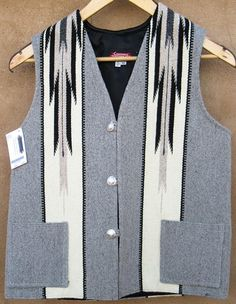 Flame style Chimayo vest handwoven wool with lining by Centinela