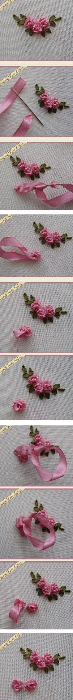 Tutorial for simple ribbon roses
