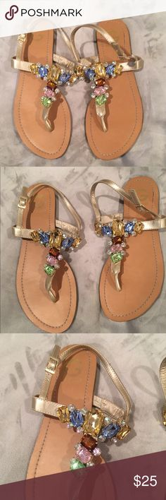 Guess jeweled sandals Guess multicolored jeweled sandals. Size 8.5. Worn a few times. G by Guess Shoes Sandals