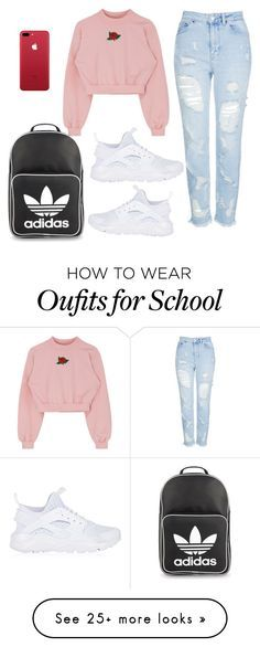 """""""School"""" by cbgzajunk on Polyvore featuring Topshop, NIKE and adidas Originals"""