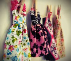 I was surprised at how easy these handmade   Barbie dresses are to make. With these directions you could make fun outfits for other little dolls or maybe even stuffed animals!