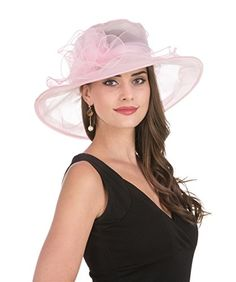 307408ed New Pink Kentucky Derby Hats Women Church Ladies Wedding Tea Party Organza  Hat