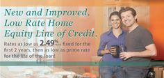New Low Rate Home Equity Line of Credit