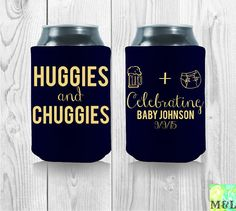 Personalized And Custom Baby Shower Koozies: by MintandLemon
