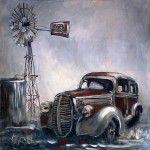 Vintage Windmill Canvas {50x50x3cm}