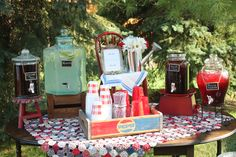 Vintage themed summer party for Oakdale Academy staff and board.