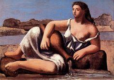 1921 La source2. Пабло Пикассо (1881-1973) Период: 1919-1930. Описание картины, скачать репродукцию.