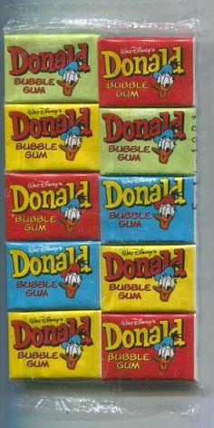 Donald Duck kauwgum, net zo zoet als bazooka.