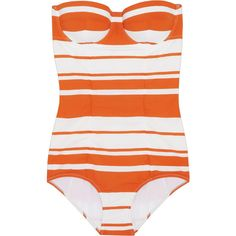 Dolce & Gabbana Striped molded swimsuit and other apparel, accessories and trends. Browse and shop 8 related looks.