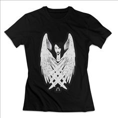 Aaliyah Angel BLack And White Actress Clothing T shirt Women