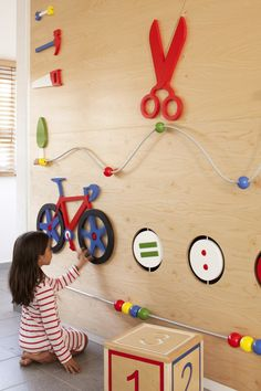 Kfar Shemaryahu Kindergarden in Israel designed by Sarit Shani Hay | Interactive walls