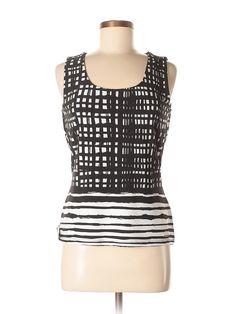 Calvin Klein Sleeveless Top: Size 8.00 Black Women's Tops - $15.99