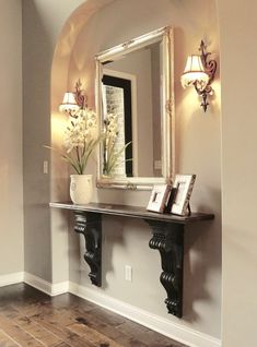 decorating Adding an Entry Way Table and How It Went from Drab to Fab How To Care For Crystal Gifts, Home Entrance Decor, Entryway Decor, Diy Home Decor, Small Entry Decor, Narrow Entryway Table, Foyer Tables, Sofa Tables, Entry Table Decorations, Entry Table Diy