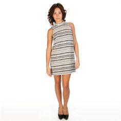 BCBGeneration Women's Contemporary Striped High-Neck Dress | from Von Maur #VonMaur #StyleCorner