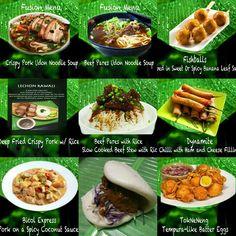 Food truck menu