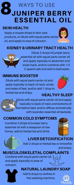 Juniper Berry Essential Oil has very strong detox and immune boosting properties. It can also be used to support skin health, kidney and urinary tract health, proper sleep, common cold symptoms, musculoskeletal complaints and as a natural laundry soap, plus so much more! Click the image for 8 natural benefits and uses for juniper berry essential oil and re-pin to share with a like-minded friend!