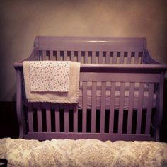 Self painted purple crib
