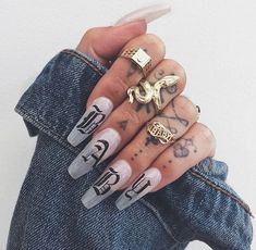 Semi-permanent varnish, false nails, patches: which manicure to choose? - My Nails Best Acrylic Nails, Acrylic Nail Designs, Perfect Nails, Gorgeous Nails, Hair And Nails, My Nails, Nails On Fleek, Fire Nails, Manicure E Pedicure