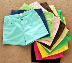 I love coloured and printed shorts. I have about 20 pairs of shorts and at least half of them are coloured.