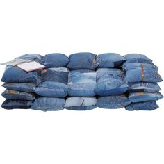 Sofa Jeans Cushions 2-Seater A casual two-seater in the denim style - Well worth a second glance: obviously somebody had a spare pair of jeans here and turned it into a spectacular sofa. Nothing is more cool and casual than this sofa with its used jeans look. Lots of cushions and a premium stainless steel frame turn this sofa into a character-rich favourite piece of furniture for loafing and living. This is my style, this is how I live! And now it s time for a pillow fight!