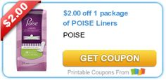 Tri Cities On A Dime: SAVE $4.00 WITH TWO COUPONS ON POISE LINERS / PADS...