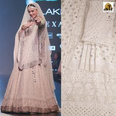 Well, Shusmita Sen always surprises us with her fashion sense. In this instance, she carried this mesmerizing #Chikankari Beige #lehenga set with full elegance. Ada Showcases the alluring #Chikankarilehenga #handembroidered with #Chikan stitches magically with white to form luscious #Chikan #embroidery, the leaf and floral motifs transports us to the land of fresh gardens. #Ada #ChikankariCollection #onlineshopping #ethnicwear #Worldwideshipping #Bollywoodstyles #puregeorgette #indianfashion