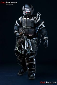 toyhaven: Pre-order ThreeA KillZone Hazmat Trooper Sixth Scale Figure - light up eyes & arc cannon Character Modeling, Game Character, Armor Clothing, Ashley Wood, Future Soldier, Futuristic Art, Figure Model, Shadowrun, Action Figures