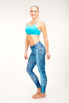 Turquoise Snake leggings