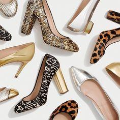 J Crew Italian Shoe Collection Thick Heels, Chunky Heels, J Crew Style, My Style, J Crew Shoes, Shoe Story, Italian Shoes, Shoe Closet, Shoe Wardrobe