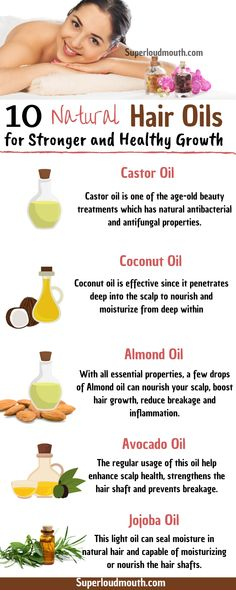 10 Natural Hair Oils for stronger and healthy growth