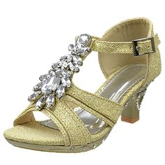 0729017b72a1 Toddler   Youth Strappy Glitter Low Heel Sandal in 2019