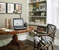 Terrific Decorate Small Office: Remarkable Inspiration How To Decorate A Small Office Space At Home With Round Wooden Table As Desk ~ workdon.com Decoration Inspiration