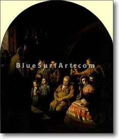 Sermon in a Village - £124.99 : Canvas Art, Oil Painting Reproduction, Art Commission, Pop Art, Canvas Painting