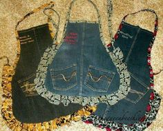 Recycled old jeans