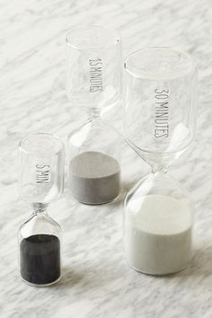 10 Rad Housewarming Gifts Your Friends Will Actually Want #refinery29. West Elm Hourglass Timers! I love these!