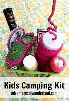 kids camping kit - so fun to take along on your summer adventures! Great summer activity