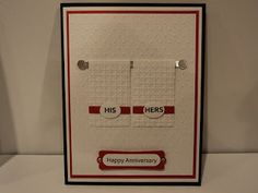 Card Corner by Candee: His/Hers Anniversary Card
