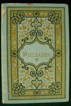 Wiesbaden Hesse Germany 1897 Tourist souvenir photo album 12 views