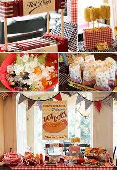 Hot Dog Birthday Party, I like this food theme for a Seymour's first birthday!
