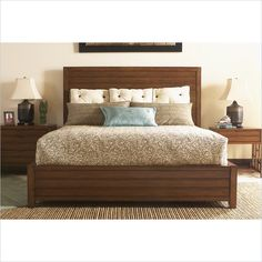 Ocean Club Sea Island Bed King and Kaloa Nightstand, Lexington Home Brands Bed Furniture, Bedroom Furniture Beds, Bedroom Interior, Bed Design, Bed, Furniture, Lexington Home, Interior Design Bedroom, Bedroom Bed Design