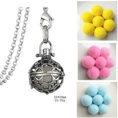 Find More Pendant Necklaces Information about Hollow Star Locket Aromatherapy Essential Oil Diffuser Aroma Perfume Necklace With Pom Pom Ball ,High Quality necklace with,China perfume necklace Suppliers, Cheap necklace necklace from Winslet&Jean on Aliexpress.com