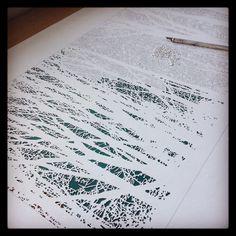 Papercut in progress Paper Cutting, Artwork, Work Of Art, Auguste Rodin Artwork, Artworks, Illustrators