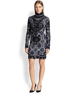 Emilio Pucci Jacquard Knit Sweater Dress