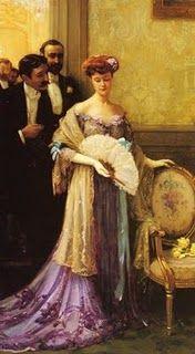 Elegant lady with fan