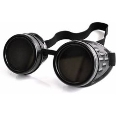 Poizen Industries CG1 Steampunk Goggles (Black) ($14) ❤ liked on Polyvore featuring accessories