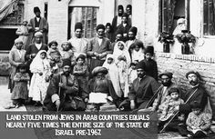 Land stolen from Jews in Arab countries equals over 100,000 sq. km: nearly five times the entire size of the state of Israel pre-1967 (22,000 sq. km)