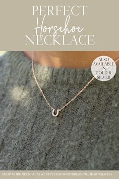 Tiny CZ Horseshoe Necklace is perfect for everyday and layering.Excellent Gift Idea for Horse lovers or Equestrians Etsy Jewelry, Jewelry Stores, Jewellery, Gifts For Husband, Gifts For Mom, Horseshoe Necklace, Silver Shop, Layered Jewelry, Personalized Necklace