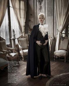 Nastya Kusakina by Mariano Vivanco for Vogue Russia December 2012