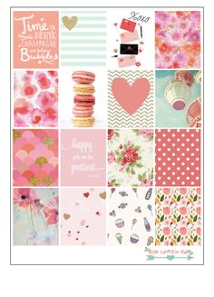 These trendy stickers are great for decoration the daily boxes for Erin Condren Planner.