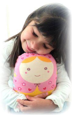 Carminita  matryoshka doll/pillow/plush/softie/decor by micasita